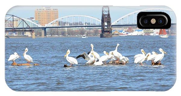 Centennial Bridge iPhone Case - Enjoying The River by Tammy Mutka