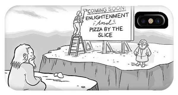 Enlightenment And Pizza IPhone Case