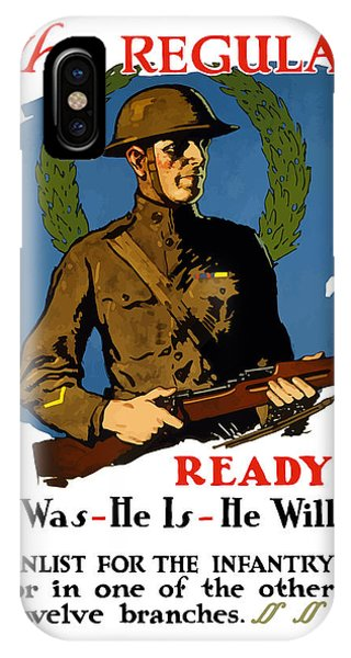 Wwi iPhone Case - The Regular - Enlist For The Infantry by War Is Hell Store