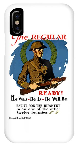 The Regular - Enlist For The Infantry IPhone Case