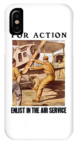 Airplane iPhone Case - Enlist In The Air Service by War Is Hell Store