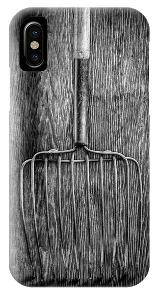 Farm Tool iPhone Case - Ensilage Fork Down by YoPedro