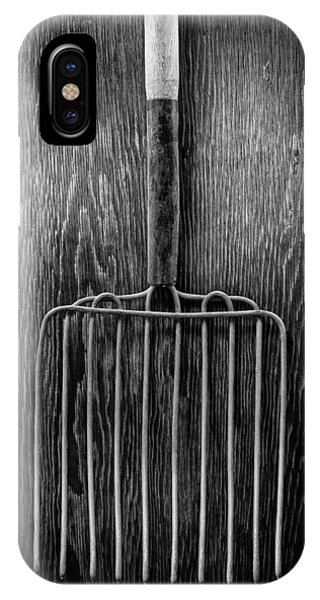 Farm Tool iPhone Case - Ensilage Fork I by YoPedro