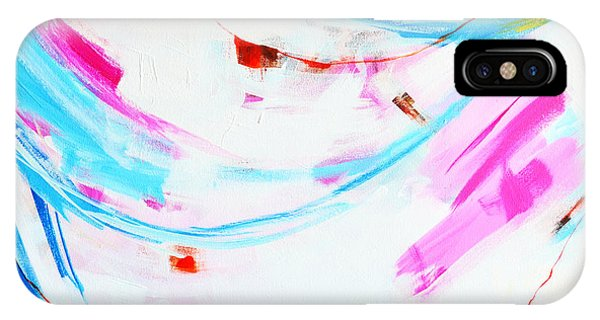 Entangled No. 8 - Left Side - Abstract Painting IPhone Case