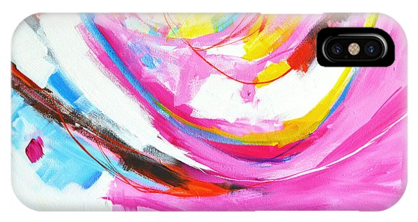 Entangled No. 8 - Right Side - Abstract Painting IPhone Case