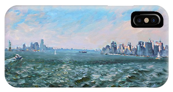 Entering In New York Harbor IPhone Case