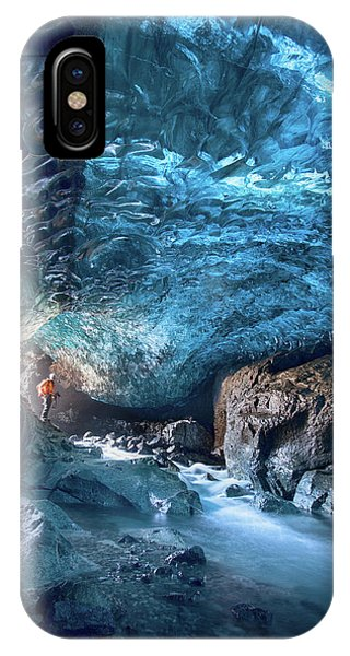 Ice iPhone X Case - Entering The Ice Cave by Peter Svoboda