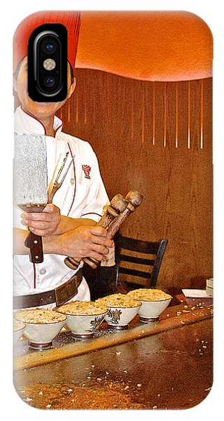Entertaining Chef At Benihana In Monterey-california IPhone Case