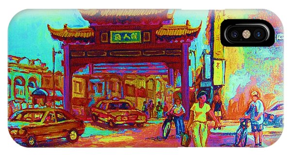 Table For Two iPhone Case - Entrance To Chinatown by Carole Spandau