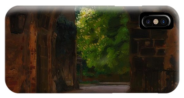 Gateway Arch iPhone Case - Entrance To The Castle Wiesenburg In The Mark by Friedrich Kallmorgen