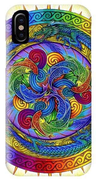 Psychedelic Dragons Rainbow Mandala IPhone Case