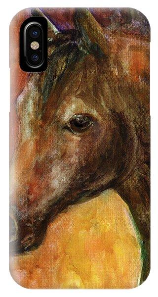 Watercolor Pet Portraits iPhone Case - Equine Horse Painting  by Svetlana Novikova