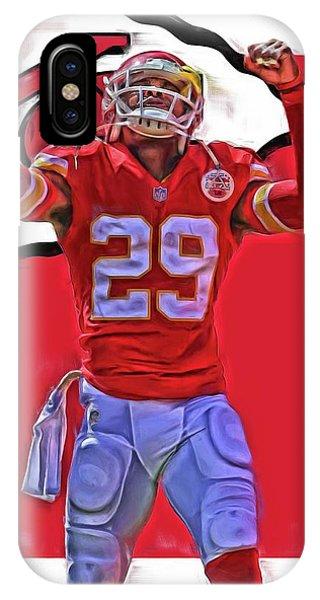Ball iPhone Case - Eric Berry Kansas City Chiefs Oil Art by Joe Hamilton