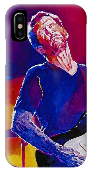 Eric Clapton iPhone Case - Eric Clapton - Crossroads by David Lloyd Glover