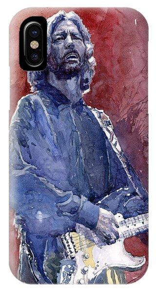 Eric Clapton iPhone Case - Eric Clapton 04 by Yuriy Shevchuk
