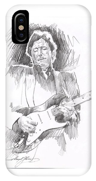 Eric Clapton iPhone Case - Eric Clapton Blackie by David Lloyd Glover