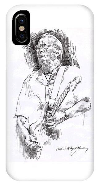 Eric Clapton iPhone Case - Eric Clapton Blue by David Lloyd Glover
