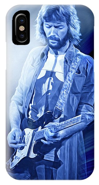 Eric Clapton iPhone Case - Eric Clapton Guitarist by Mal Bray
