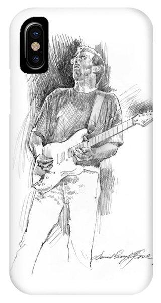 Eric Clapton iPhone Case - Eric Clapton Strat by David Lloyd Glover