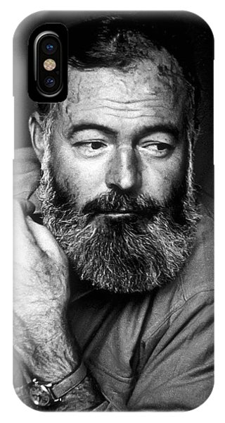 Nobel iPhone Case - Ernest Hemingway 1944 by Daniel Hagerman