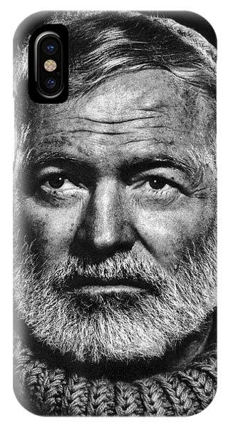 Nobel iPhone Case - Ernest Hemingway by Daniel Hagerman