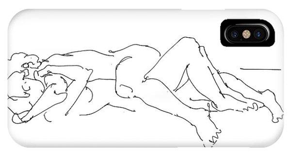 Erotic Lesbian Art 1b IPhone Case