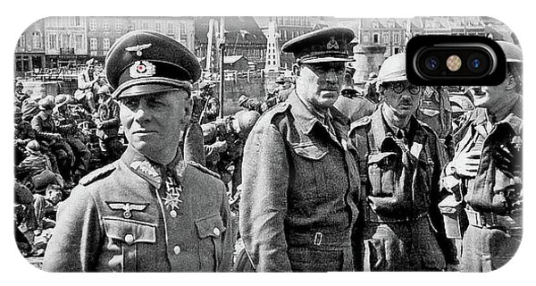 Erwin Rommel And Captured British Soldiers Tobruck Libya 1942 Color Added 2016  IPhone Case