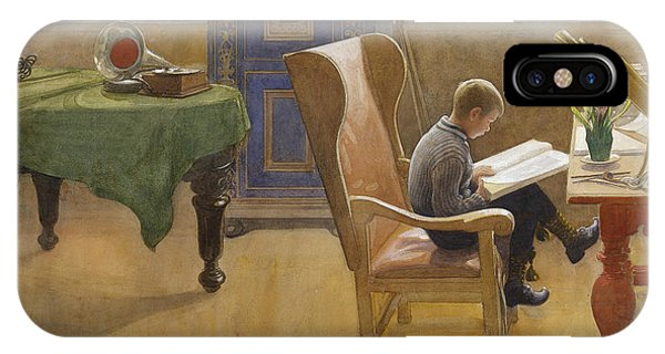 Art And Craft iPhone Case - Esbjorn At The Study Corner by Carl Larsson