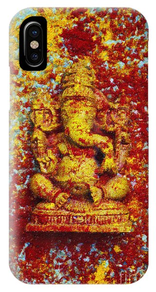 Coloured Pencil iPhone Case - Essence Of Ganesha by Tim Gainey