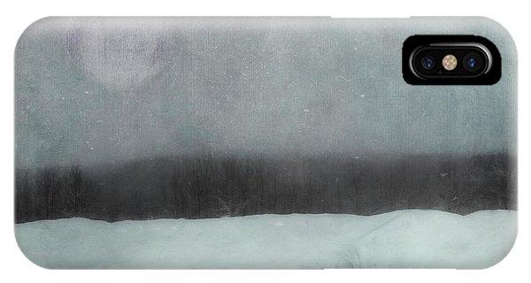 Treeline iPhone Case - Essence Of Winter by Priska Wettstein