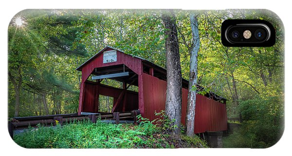 Covered Bridge iPhone Case - Esther Furnace Bridge by Marvin Spates