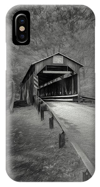 Covered Bridge iPhone Case - Esther Furnace No 8 by Marvin Spates