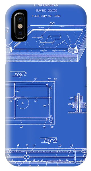 Etch-a-sketch iPhone Case - Etch-a-sketch Patent - Blueprint by Finlay McNevin