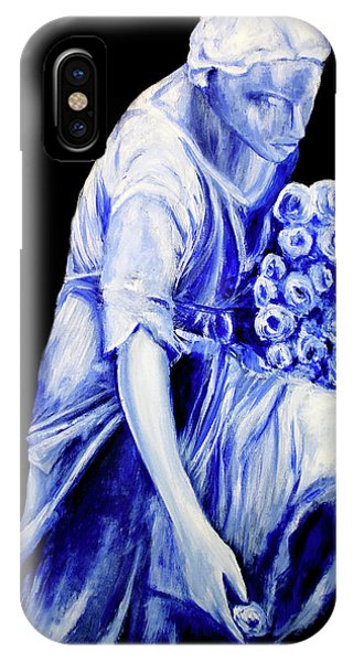 Flower Girl In Blue IPhone Case