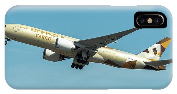 Alitalia iPhone Case - Ethiad Cargo Boeing B777 by Roberto Chiartano