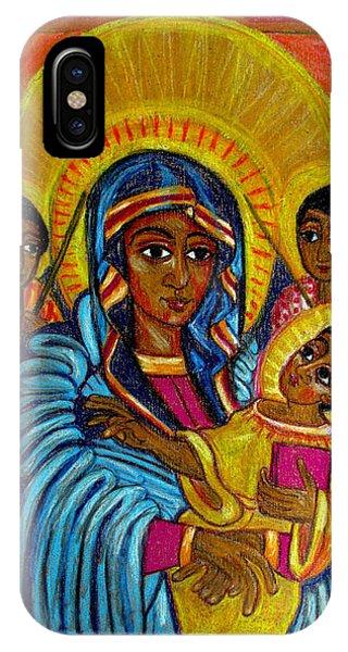 Ethiopian Madonna And Child Jesus IPhone Case
