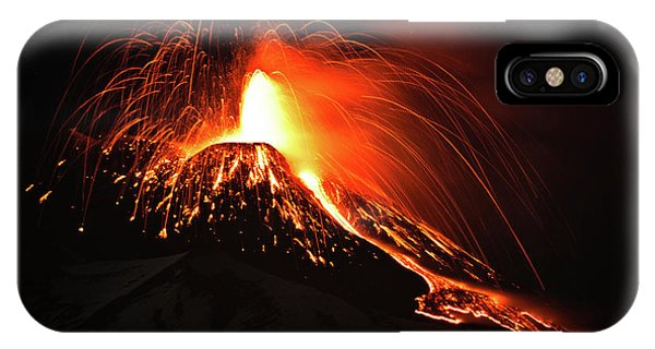Italy, Sicily,etna IPhone Case