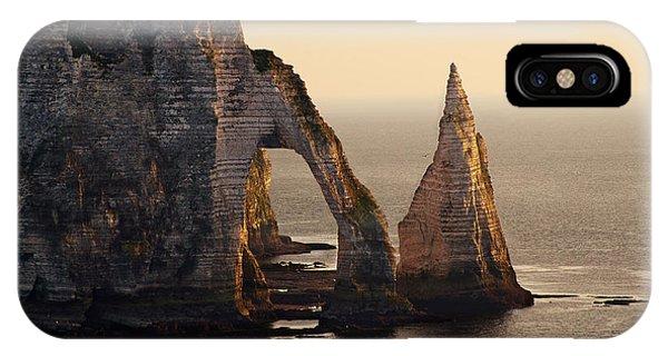 IPhone Case featuring the photograph Etretat In Morning Sun by Jaroslaw Blaminsky