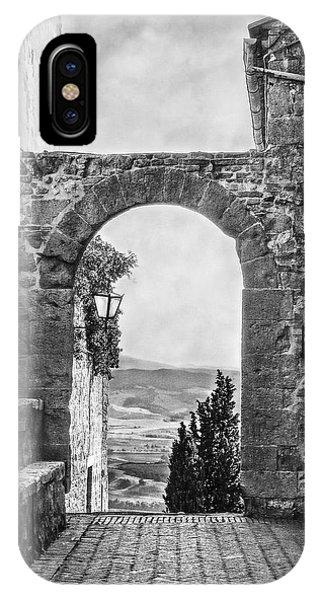 Etruscan Arch B/w IPhone Case