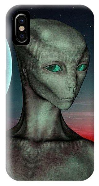 Science Fiction iPhone Case - Alien Girl by Viaruss Ut-Gella
