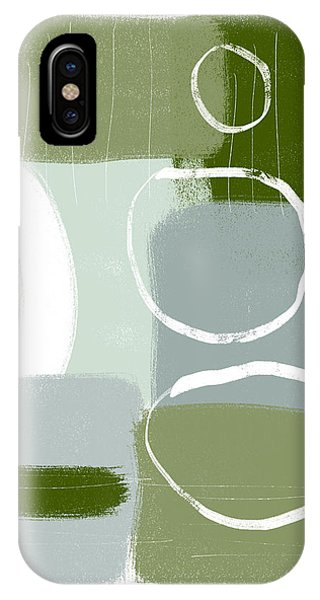 Abstract Modern iPhone Case - Eucalyptus Breeze  2- Art By Linda Woods by Linda Woods
