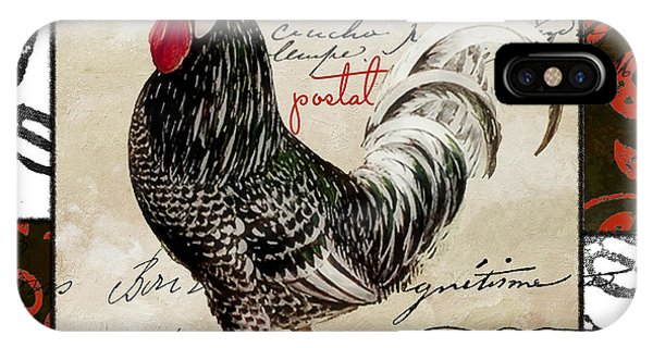 Rooster iPhone Case - Europa Rooster IIi by Mindy Sommers