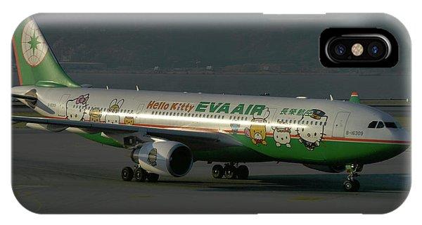 Eva Air Airbus A330-203 IPhone Case