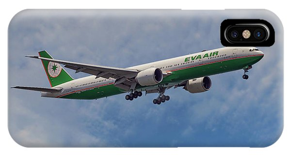 Airline iPhone Case - Eva Air Boeing 777-35e by Smart Aviation