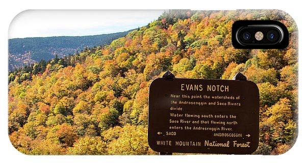 Evans Notch Route 113 IPhone Case