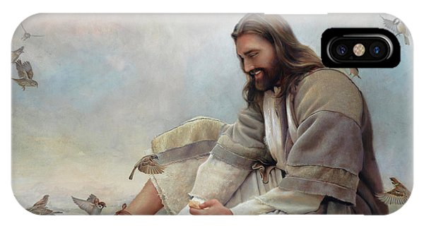 Jesus iPhone Case - Even A Sparrow by Greg Olsen