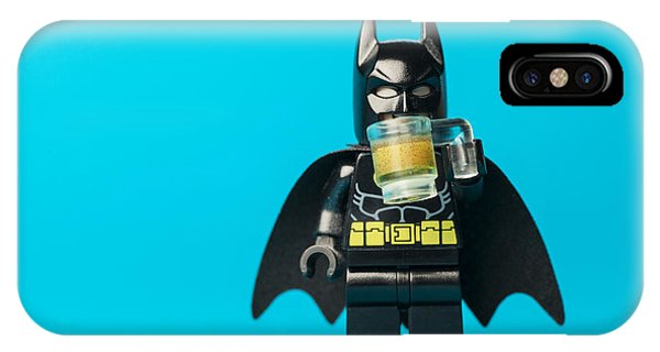 Bat iPhone Case - Even Batman Needs A Beer by Samuel Whitton