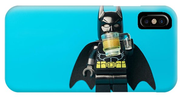 Figures iPhone Case - Even Batman Needs A Beer by Samuel Whitton