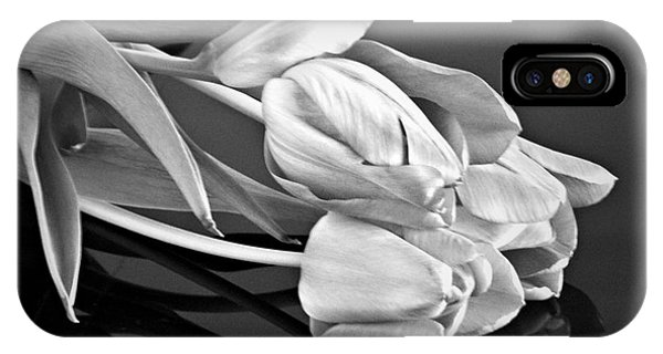 Even Tulips Are Beautiful In Black And White IPhone Case
