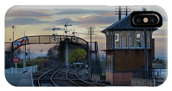 Evening At Bo'ness Station IPhone Case